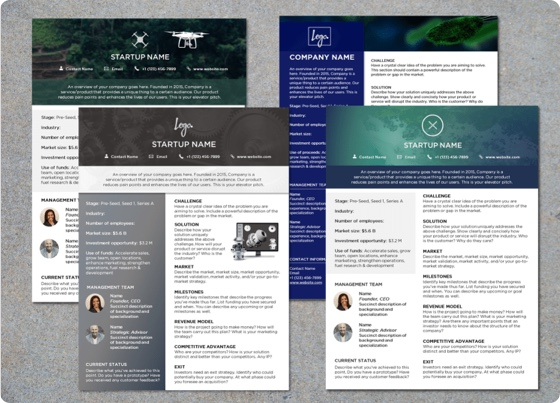 startup-one-pager-乐动软件下载templates-image