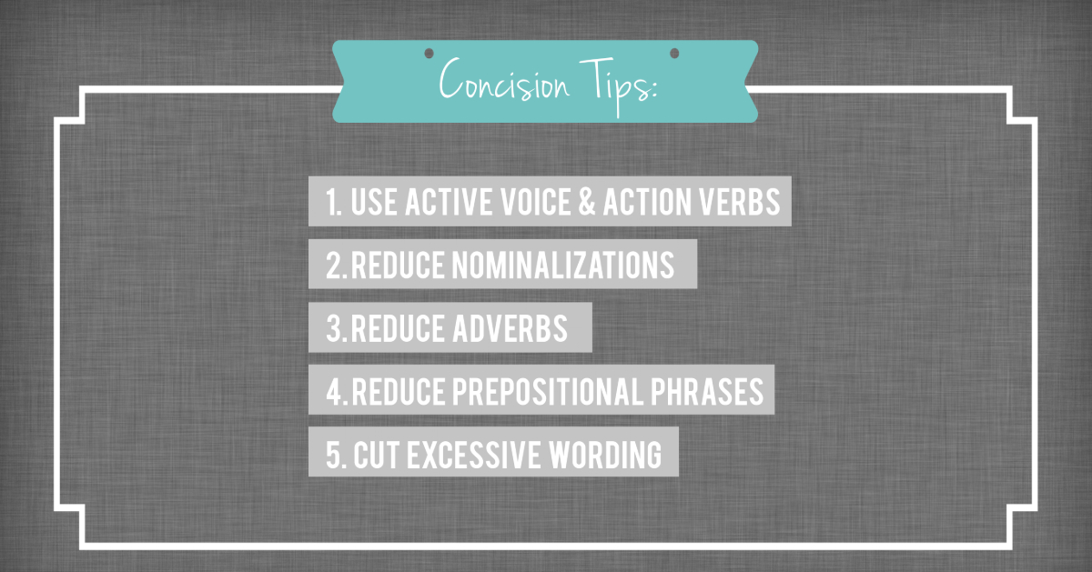Concise writing tips