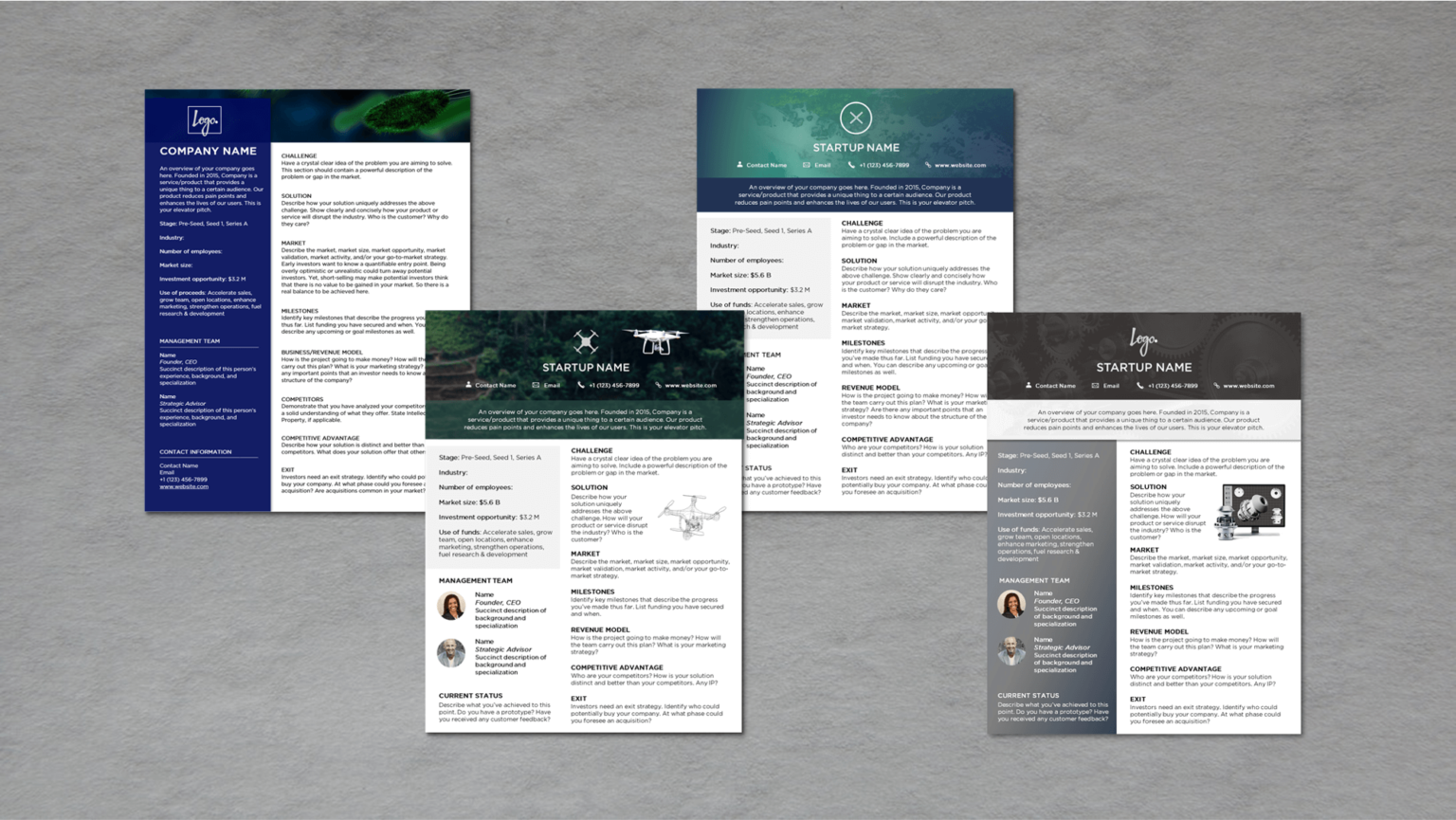 Startup One Pager Template