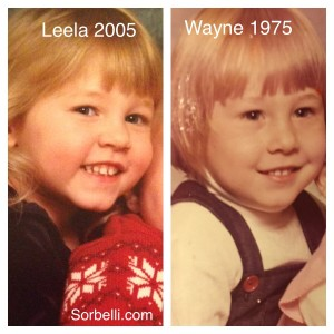Leela & Wayne Sorbelli Baby Picture Comparisons on Family Website