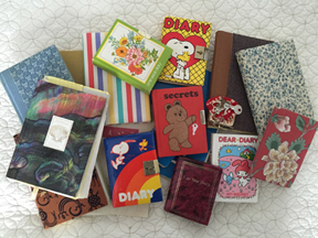 Pile of diaries.