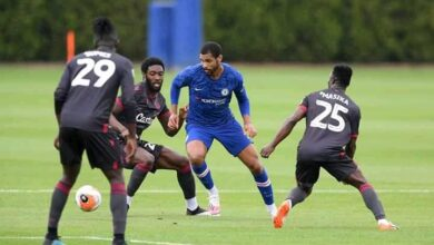 Photo of Harambee Stars Ayub Timbe Plays Against Chelsea During Pre-Corona Return