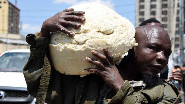 Photo of Hungry Man Rescues Precious Ugali As County Askaris Demolish Illegal Business Structures