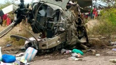 Photo of Photos Of KDF Chopper That Crashed In Machakos Killing Two