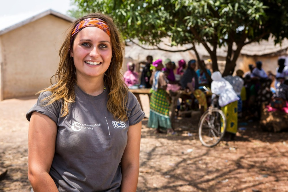 One of the ICS members from UK working with Kenyan Youths to fight poverty