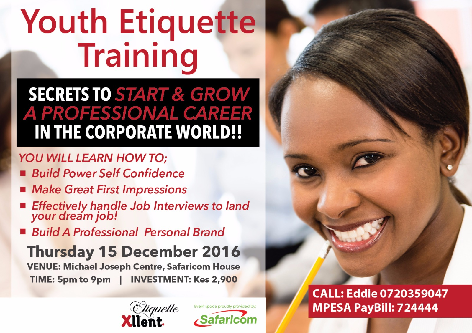 Photo of Youth Agenda, Enroll For Youth Etiquette Training And Club This December