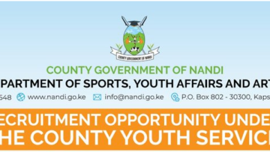 Photo of Call For Applications – 600 Vacancies Open In Nandi County For Youths