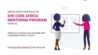 Photo of She Code Africa Mentoring program – Cohort 3