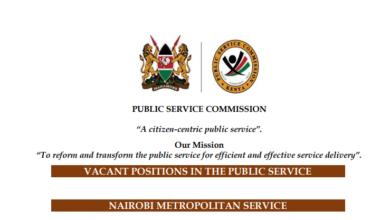 Photo of Opportunity Alert- 1000 Vacancies Open At Nairobi Metropolitan Service