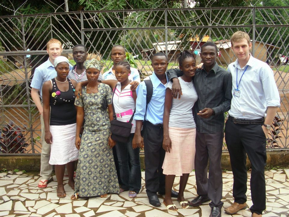 One of the ICS members from UK working with Kenyan Youths