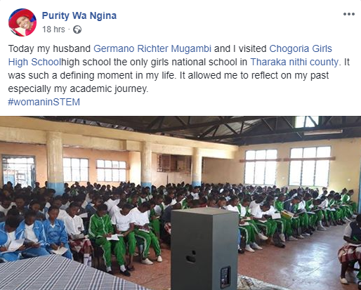 Kenyas Youngest PhD Holder Purity Ngina Gets Married In