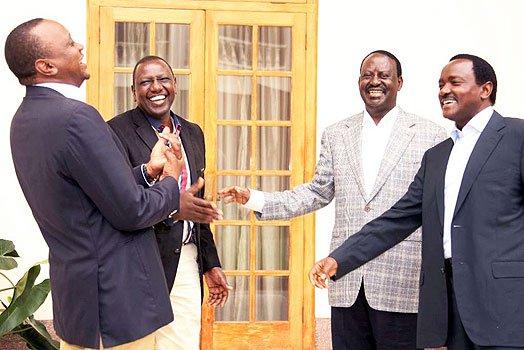 Photo of Police Attack On Wanjigi's House Reveals Mystery Of Uhuru-Raila Deal In 2013