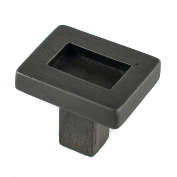 Border Cabinet Knob Charcoal Finish