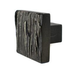 Cabinet Knob Cedar Black Iron