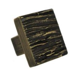 Cabinet Knob Cedar Brass