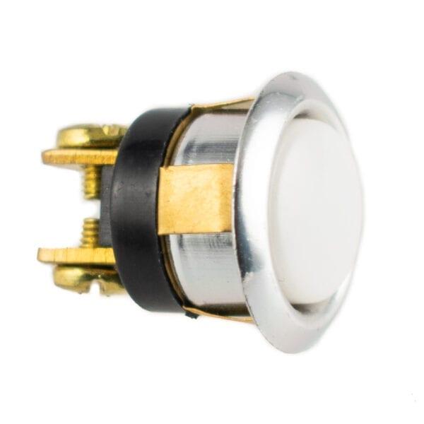 Push Button Doorbell White Silver Bezel