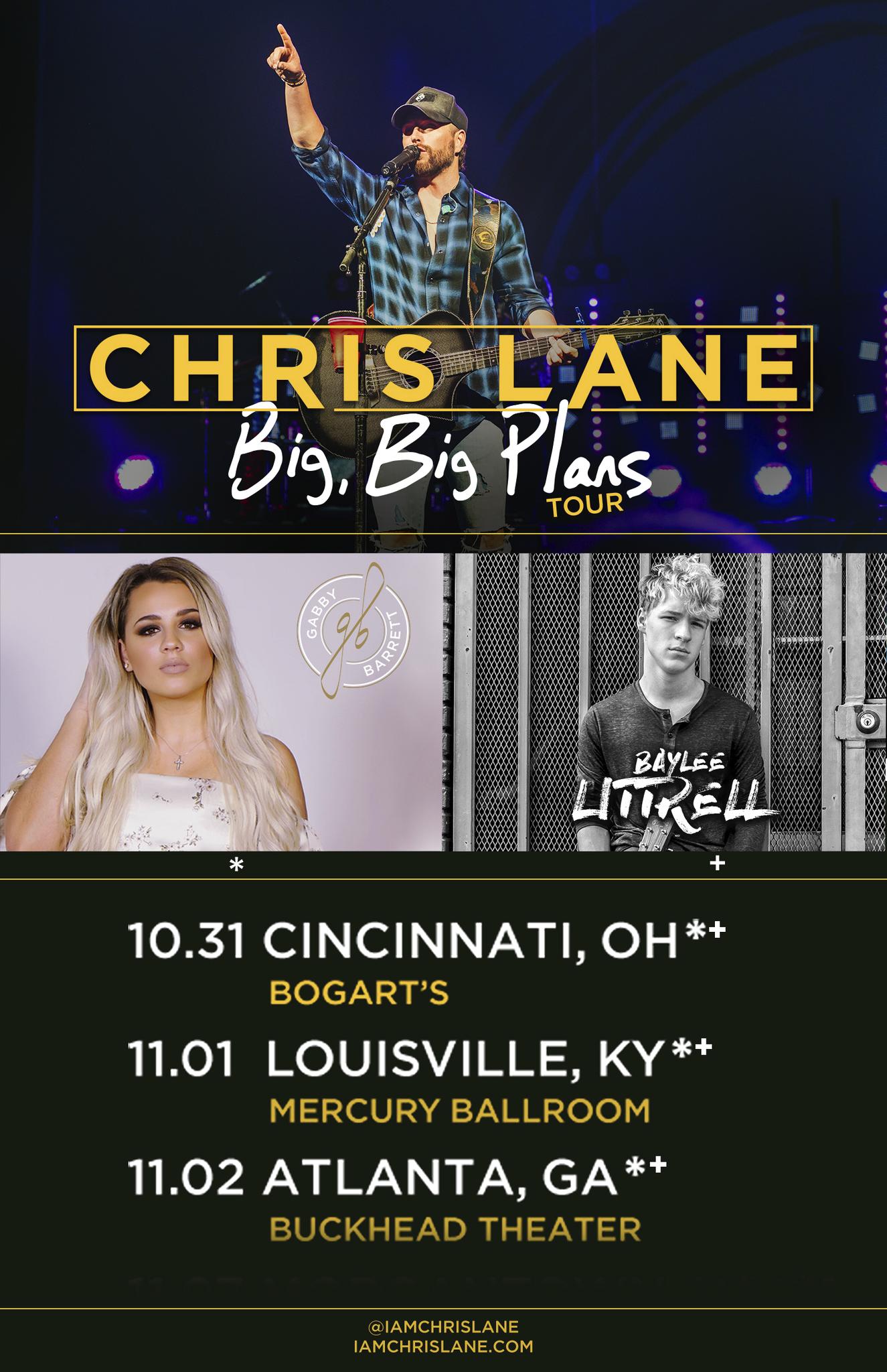 Baylee Joining Chris Lane on Big Big Plans Tour