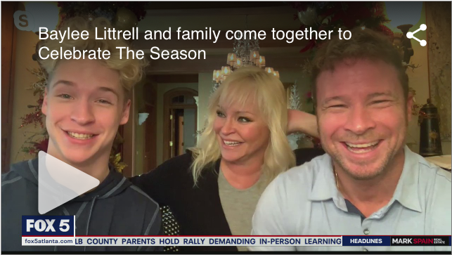Baylee, Leighanne and Brian Littrell are partnering with Ryan Seacrest Foundation for a Toy Drive