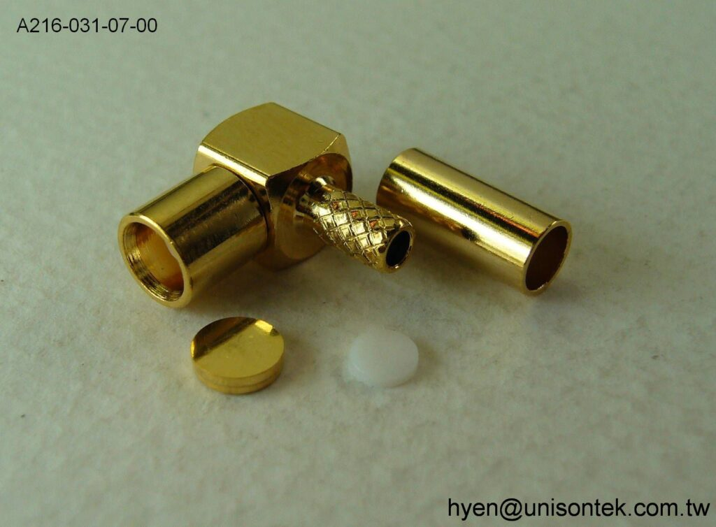 MCX007 RA JACK for RG174 Cable connector