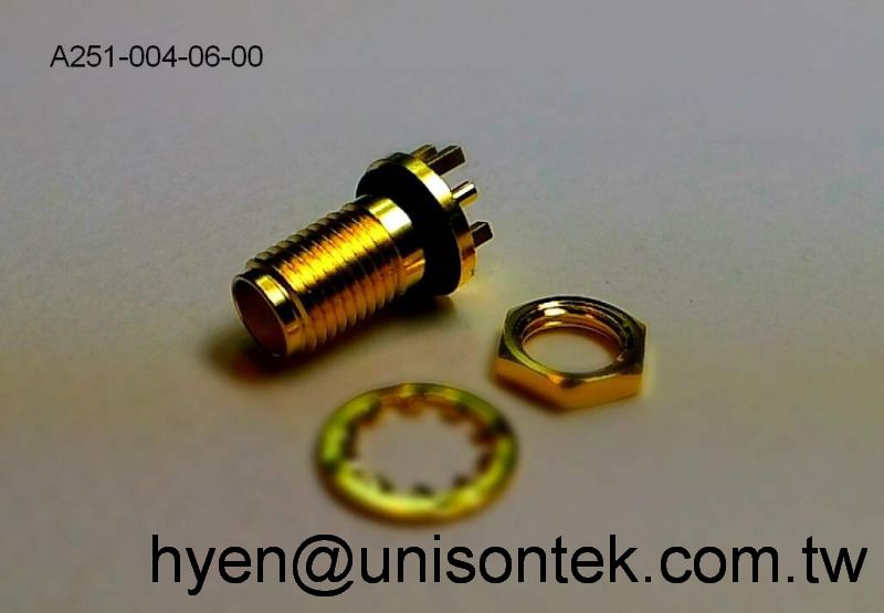 SMA168 Jack+O-ring for PCB