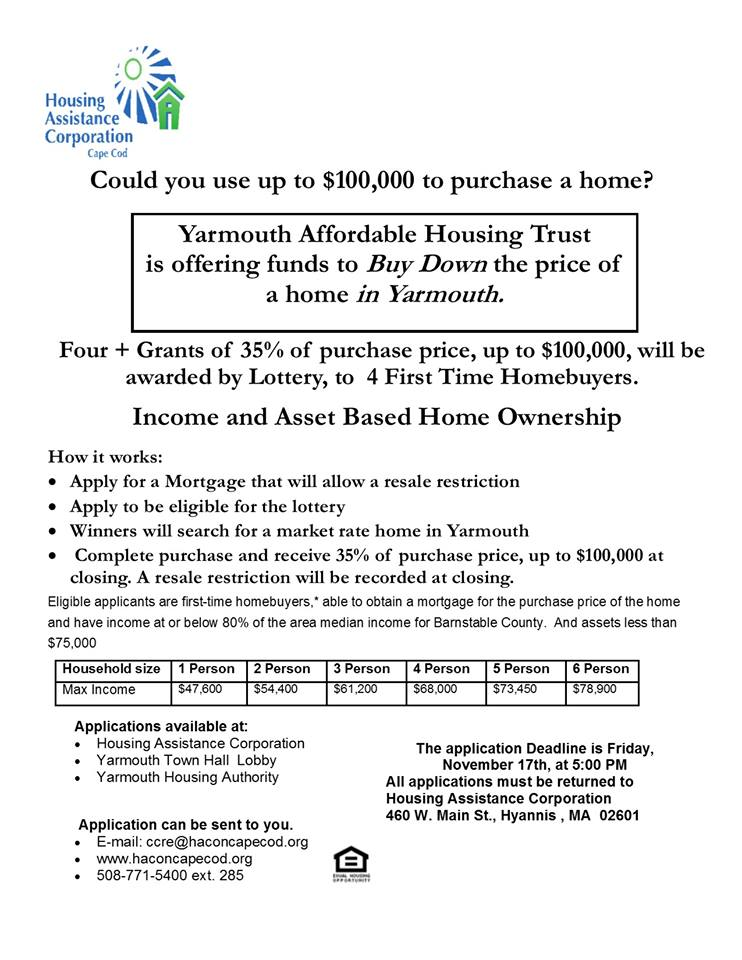 Choose Your Own Affordable Home in Yarmouth - Housing
