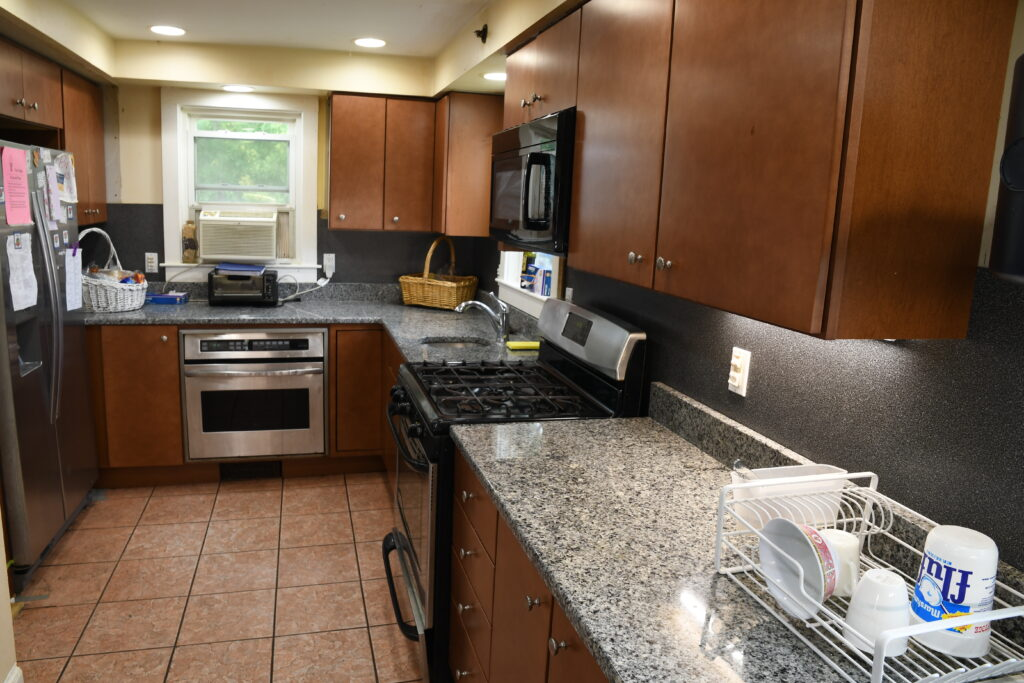The newly renovated kitchen at Housing Assistance's Angel House shelter.