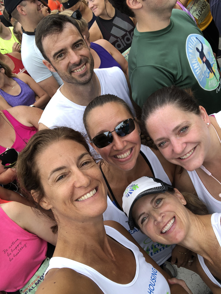 Housing Assistance's Alisa Magnotta, David Quinn, Jodi Keegan, Caitlin Sullivan and Anne Van Vleck were staffers who ran the 2019 Falmouth Road Race.