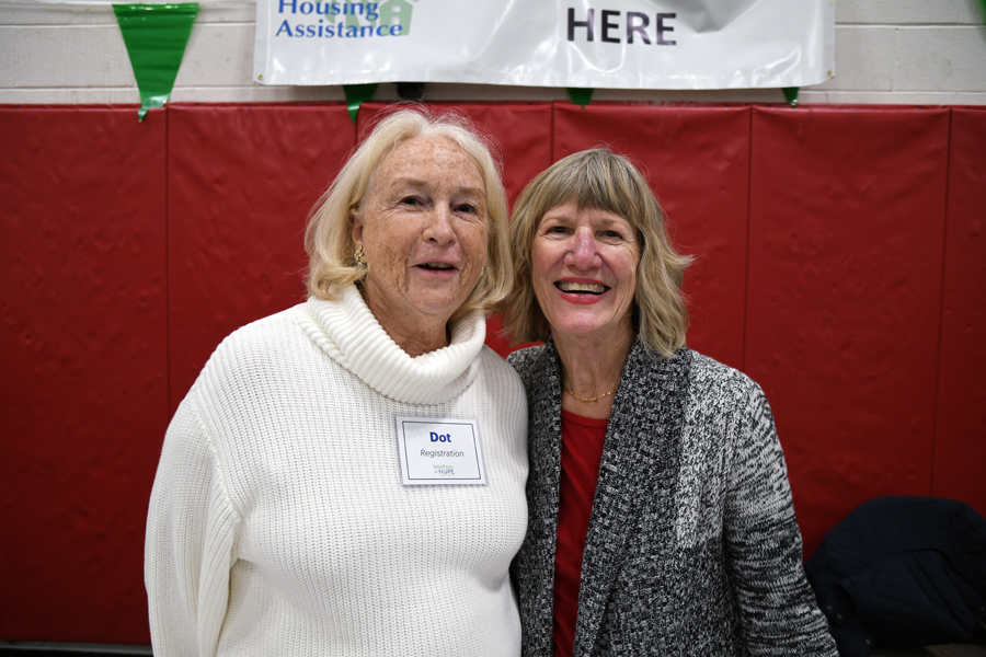 Housing Assistance Volunteers Dot DeYoung and Pat Fruggiero.