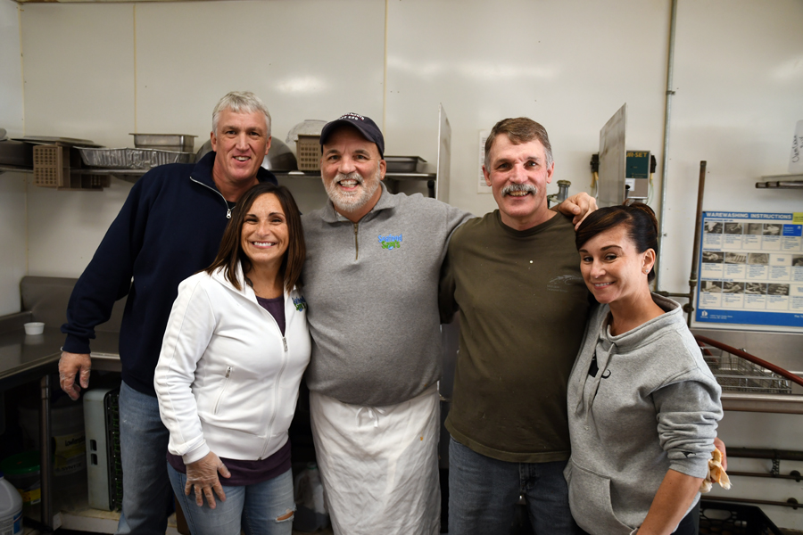 Volunteers who helped cooked lunch for participants in the 2019 Chris Wetherbee Memorial Toy Run.
