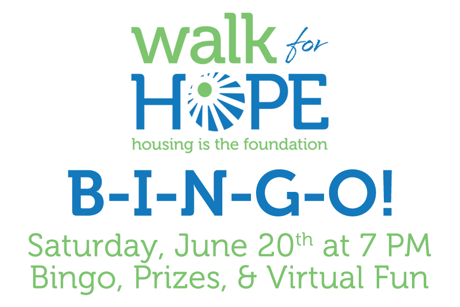 Walk for Hope Virtual BINGO Logo