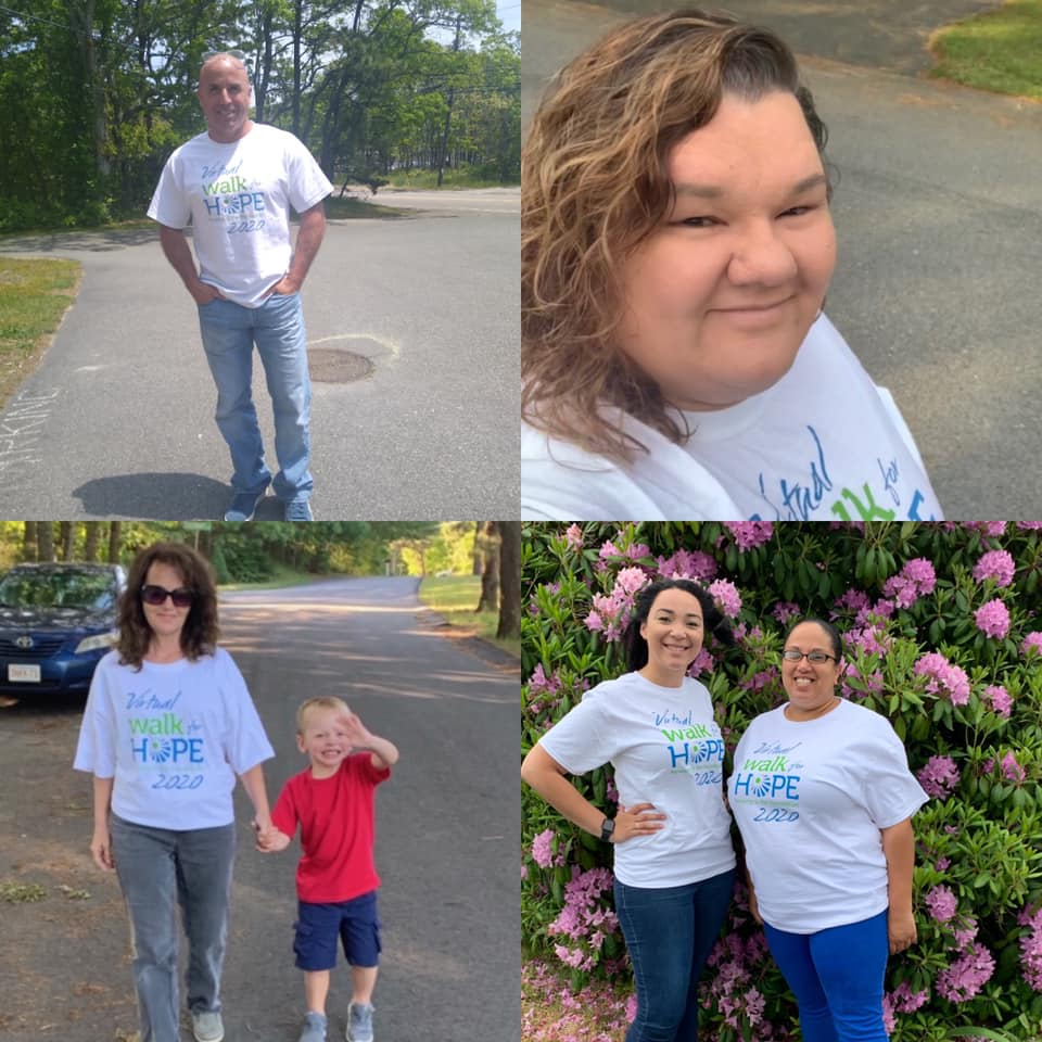 Walk for Hope 2020 participants