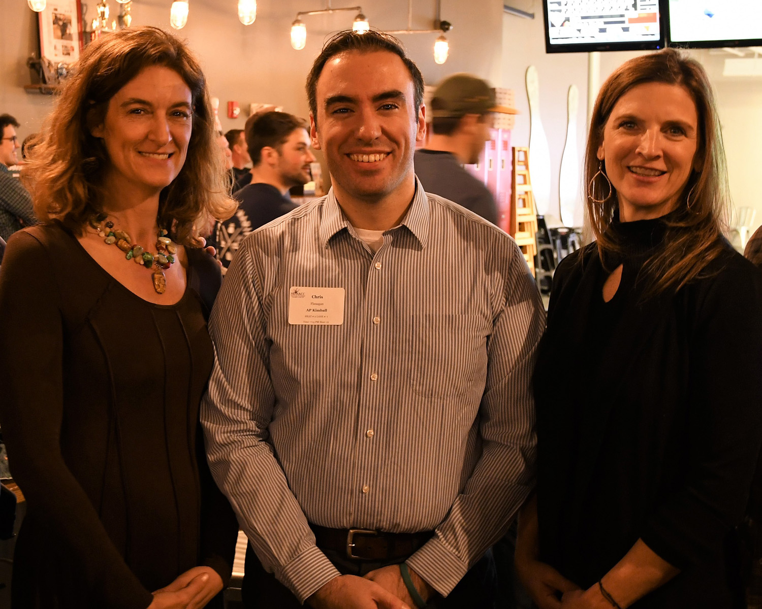 HBRACC Bowling for Beds Alisa Magnotta, Chris Flanagan and Anne Van Vleck