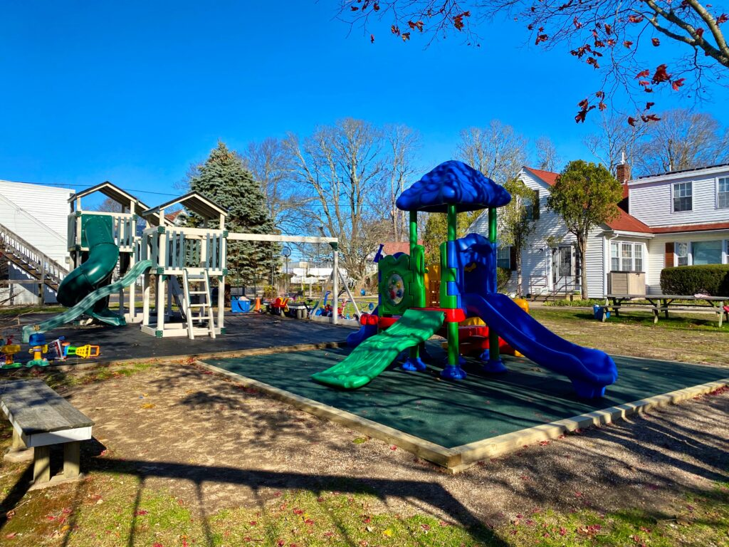 View of new Angel House shelter playground.