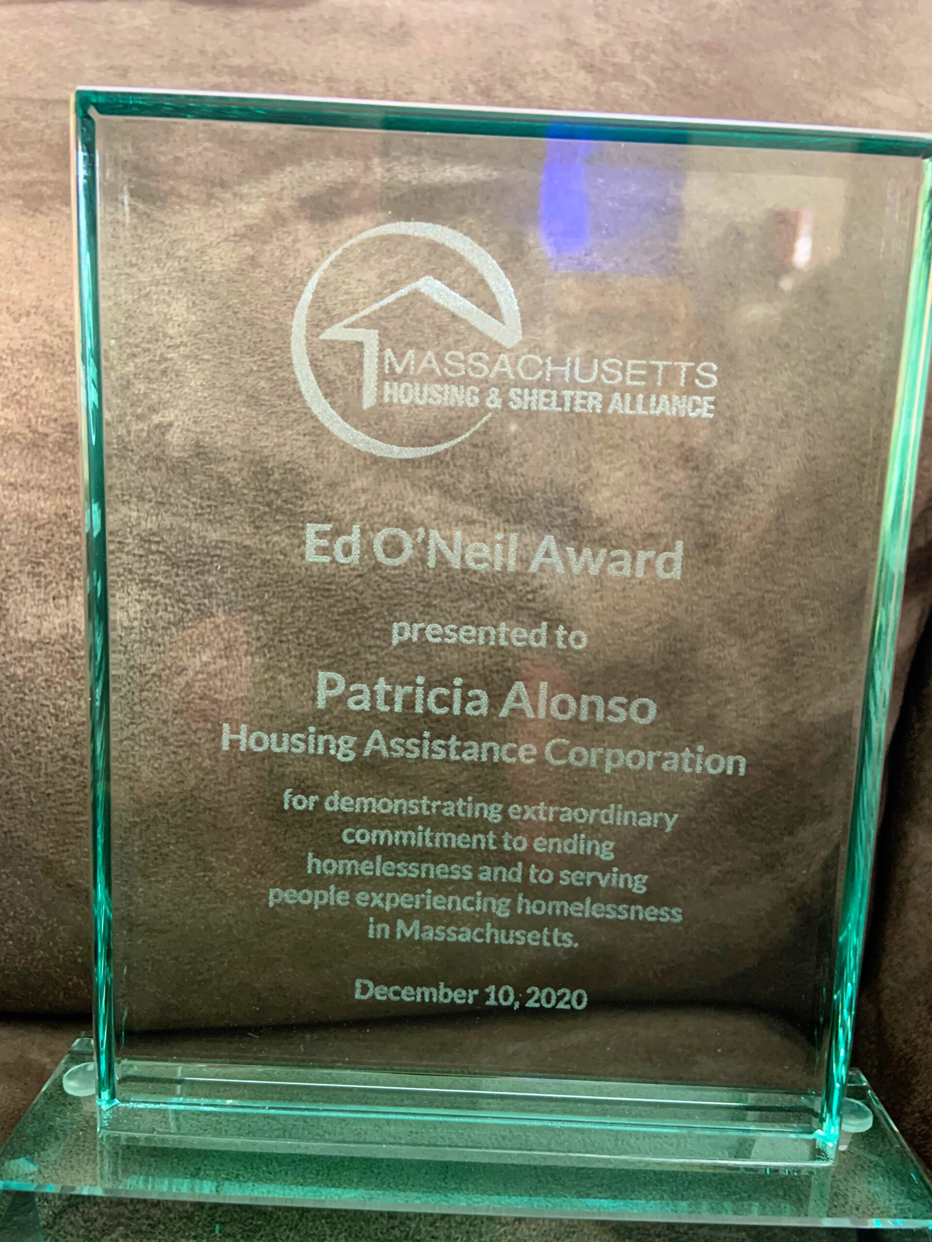 Patty Alonso's Ed O'Neil Award