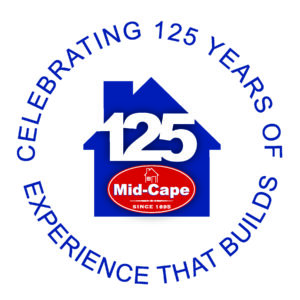Mid-Cape Home Centers 125 year Anniversary logo