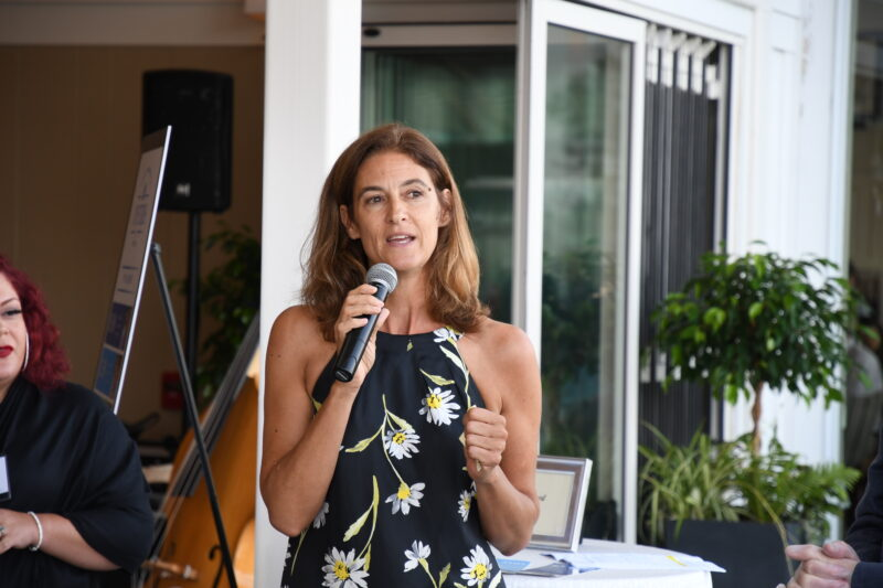 Alisa Magnotta talking during the Fund A Need at our 2nd Annual Oysters & Champagne in 2019.