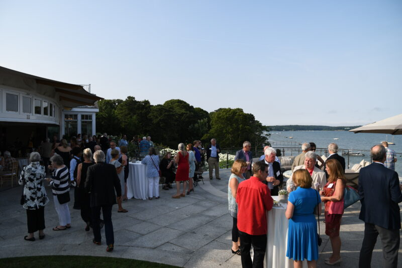 Guests enjoying our 2nd Annual Oysters & Champagne in 2019.