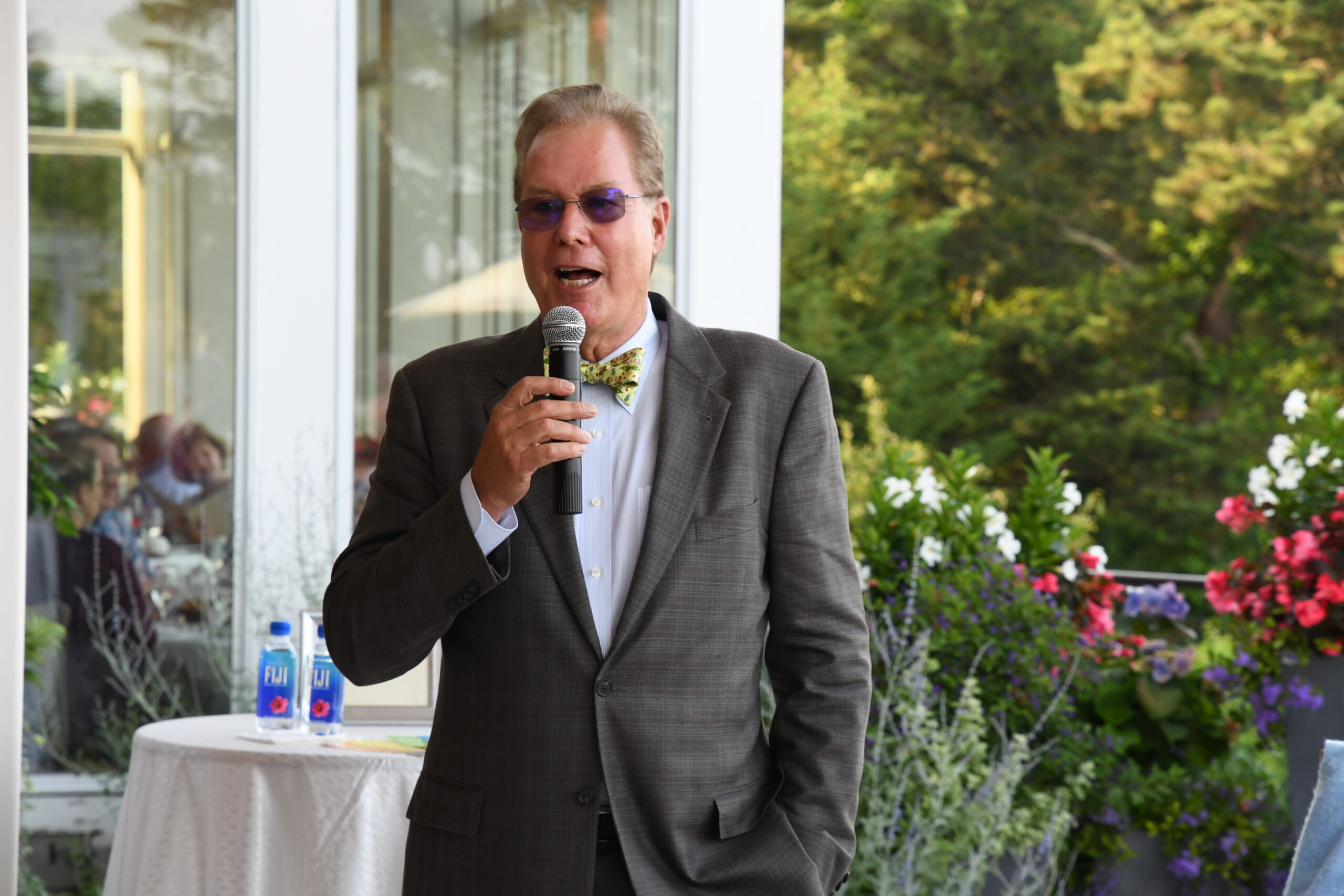 Tony Shepley speaking at our Oysters & Champagne in 2019.