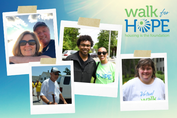 2021 Walk for Hope graphic featuring walkers