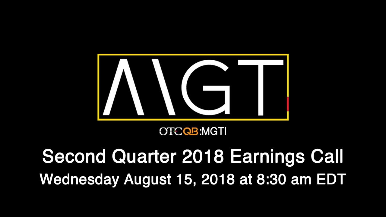 MGT Capital to Hold Investor Update Call on Wednesday August 15, 2018