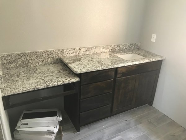 Orion White Granite Vanity