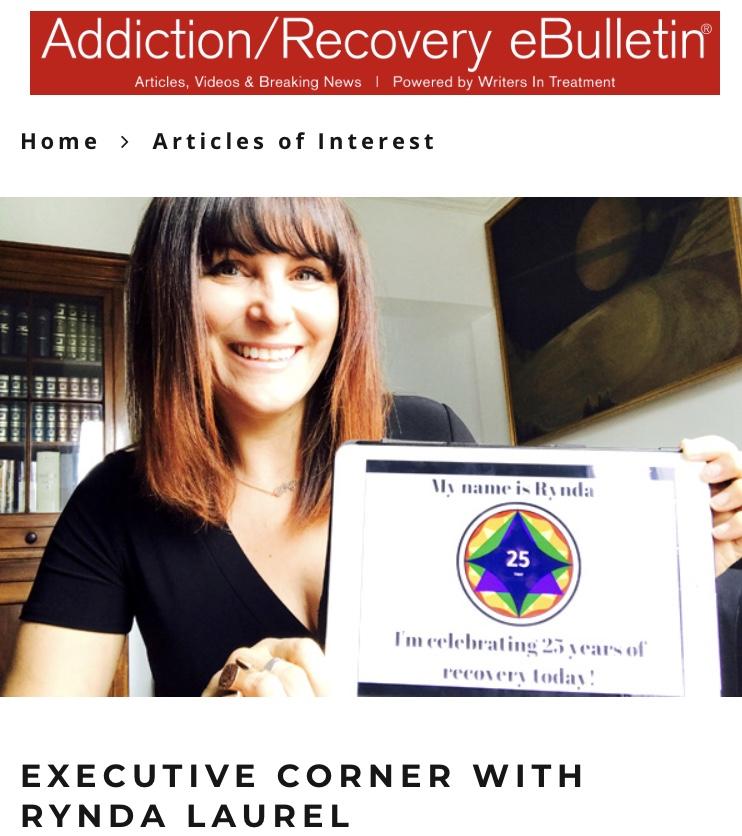 Executive Corner Q&A on Addiction/Recovery E-Bulletin