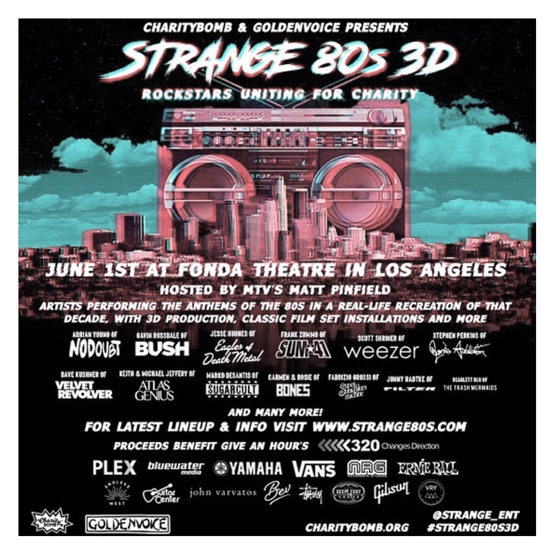 Rynda joins Charity Bomb Advisory Board  + Strange 80's 3D!