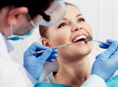 woman getting cosmetic dentistry new britain