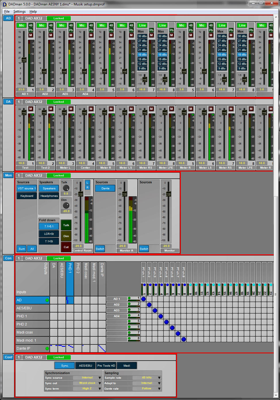DADman Software Screen