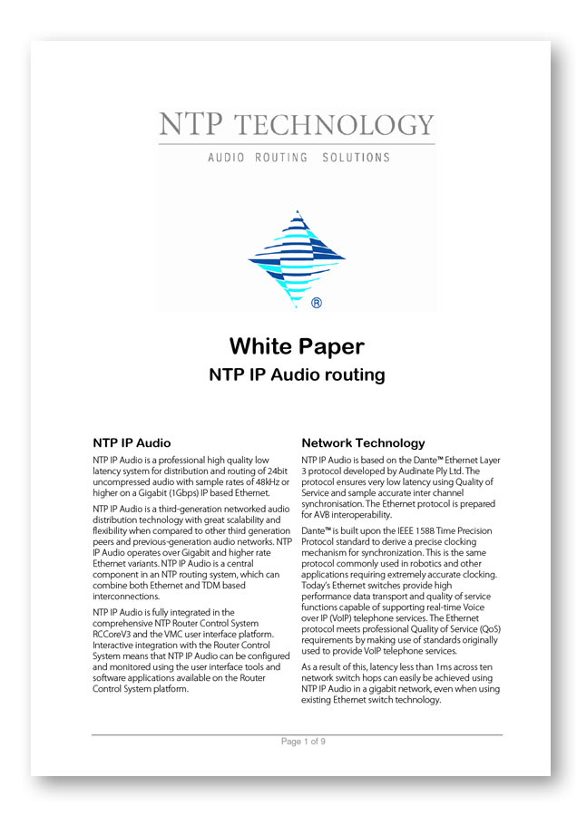 NTP IP Audio White Paper PDF