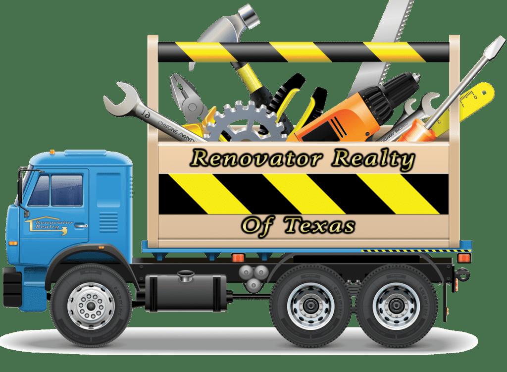 renovator realty of texas truck logo