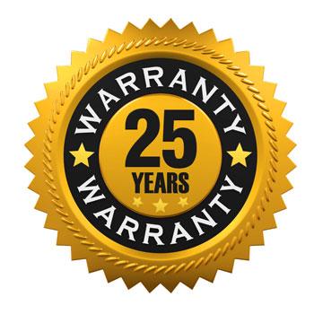 25 years warranty