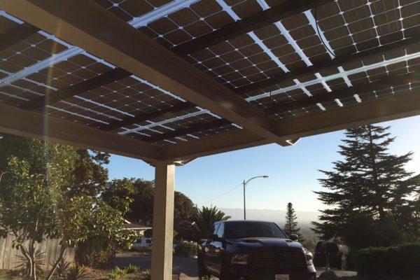 Solar Carport Underside