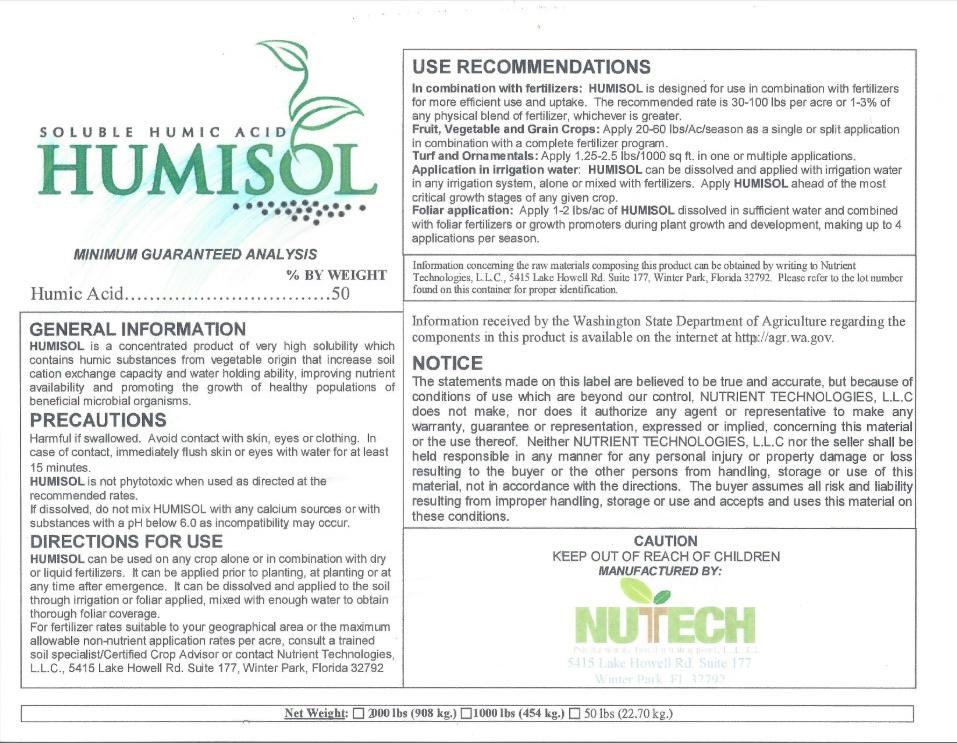 Humisol Label